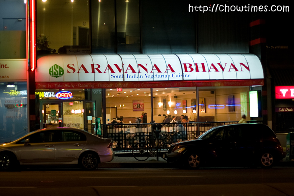 Saravanaa Bhavan on Broadway