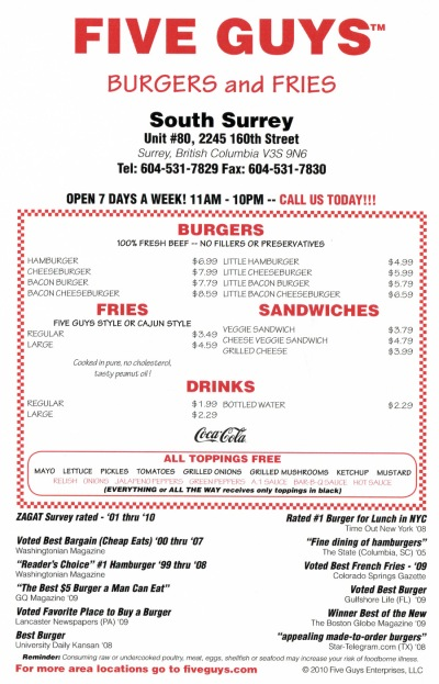 Five-Guys-Menu