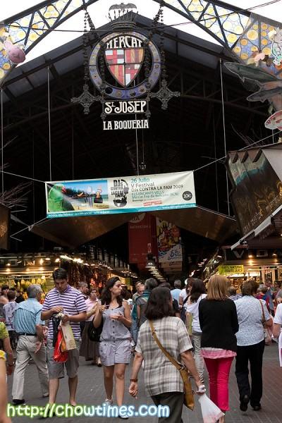 La Boqueria on La Rambla