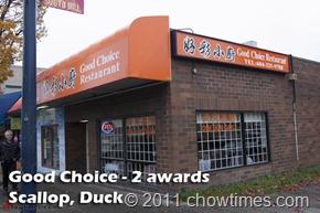 Good Choice - 2 awards Scallop, Duck