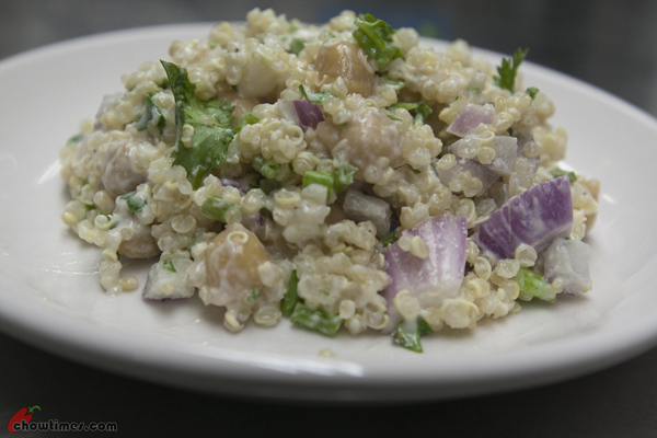 This Lemon Scented Quinoa Salad is nutty and packed with a lot of ...