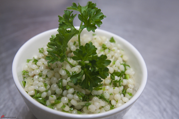 Israeli-Couscous-with-Shallots-and-Parsley-11