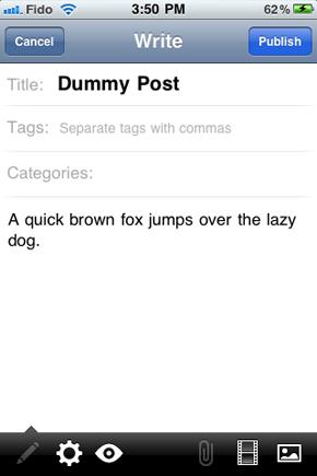 WordPress-Blogging-on-iPhone