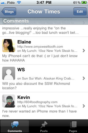WordPress-Comments-on-iPhone