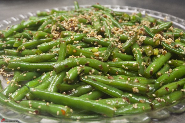 The Sesame Green Beans are aromatic with sesame oil and the sesame ...