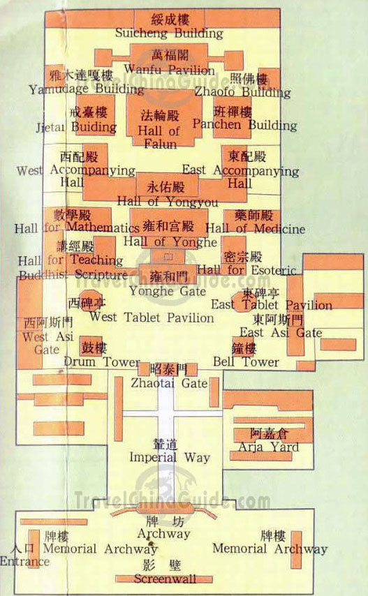 Yonghe Lamasery Map