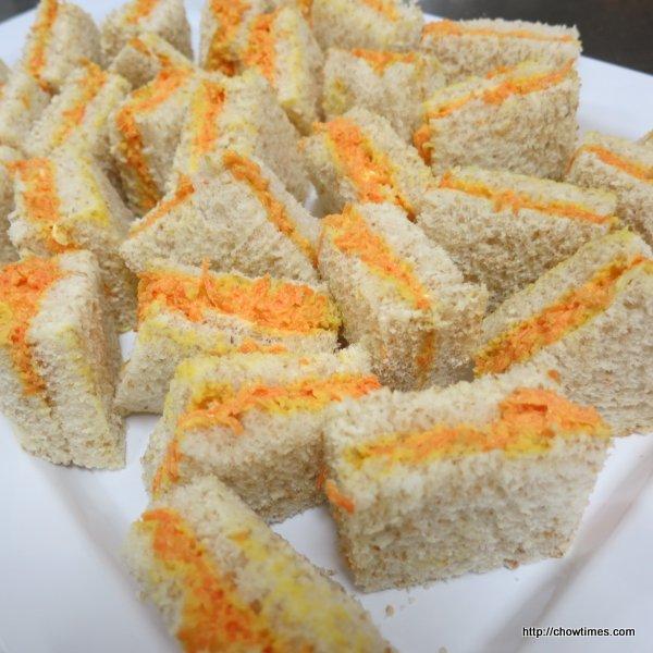 Carrot Ginger Tea Sandwiches 001