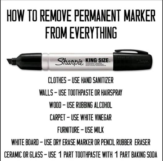How to Remove Permanent Marker from Different Materials