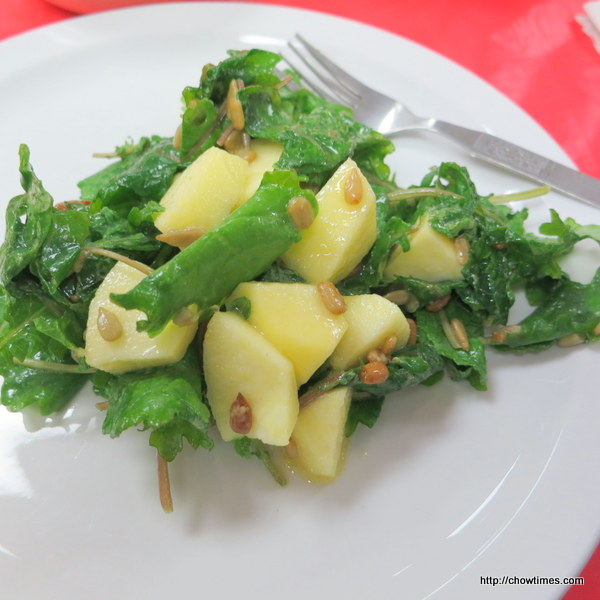 Raw Baby Kale Salad with Apples, Sunflower Seeds and Lemon Dijon ...