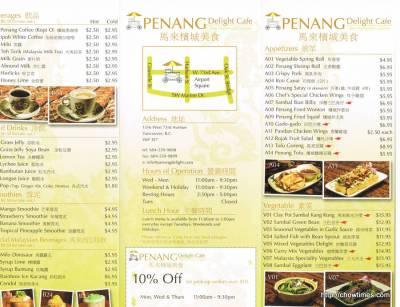 Penang Delights Menu (1)