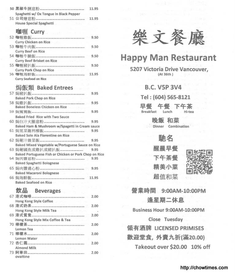 Happy Man Menu (1)
