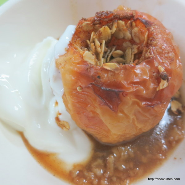 This Oatmeal Brown Sugar Baked Apple is great for dessert, breakfast ...