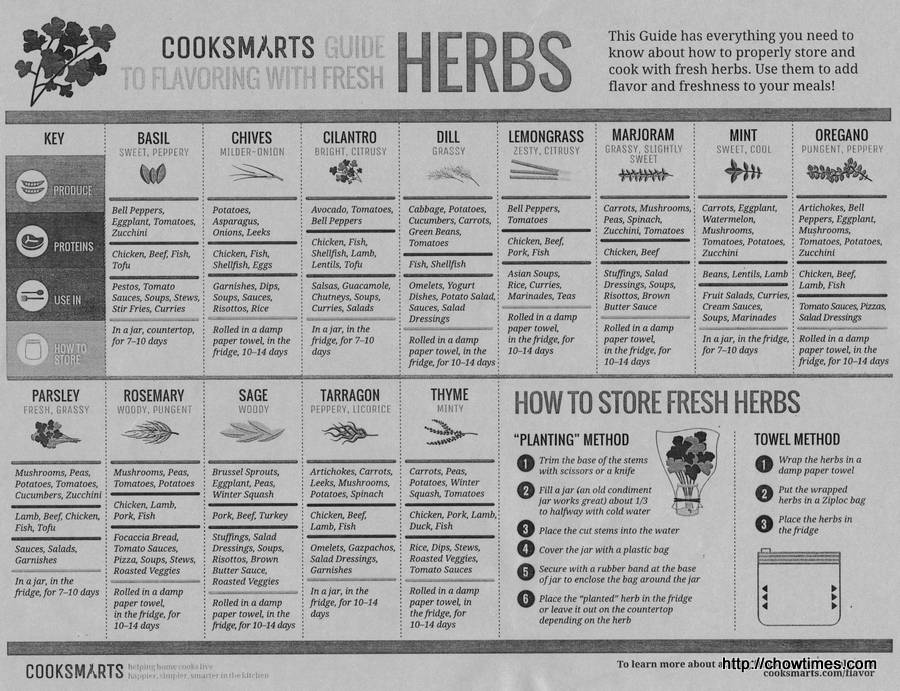 CookSmarts Guide with Herbs