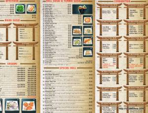 Sushi King House Menu (2)